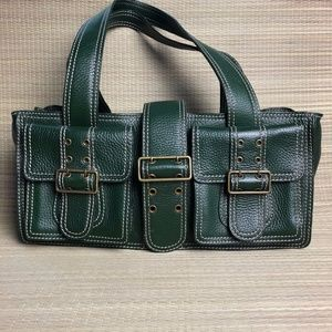 Cynthia Rowley Forest Green Leather Bag
